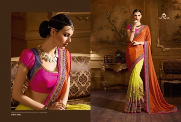 NIRVANA ALL HITS FANCY DESIGNER SAREE COLLECTION WHOLESALE BY GOSIYA EXPORTS SURAT (17)