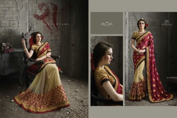 NIRVANA ALL HITS FANCY DESIGNER SAREE COLLECTION WHOLESALE BY GOSIYA EXPORTS SURAT (5)