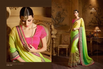 NIRVANA ALL HITS FANCY DESIGNER SAREE COLLECTION WHOLESALE BY GOSIYA EXPORTS SURAT (8)