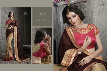 NIRVANA ALL HITS FANCY DESIGNER SAREE COLLECTION WHOLESALE BY GOSIYA EXPORTS SURAT (9)