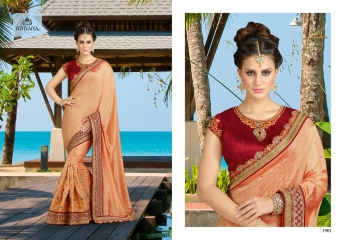 NIRVANA FASHION 1900 SERIES DESIGNER SAREES WHOLESALE RATE AT SURAT (1)