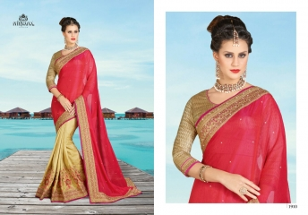 NIRVANA FASHION 1900 SERIES DESIGNER SAREES WHOLESALE RATE AT SURAT (10)