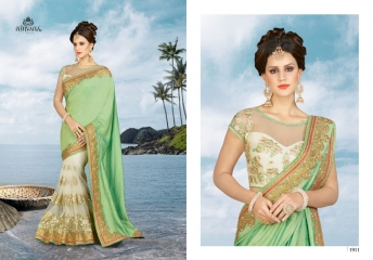 NIRVANA FASHION 1900 SERIES DESIGNER SAREES WHOLESALE RATE AT SURAT (11)