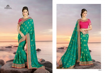 NIRVANA FASHION 1900 SERIES DESIGNER SAREES WHOLESALE RATE AT SURAT (12)