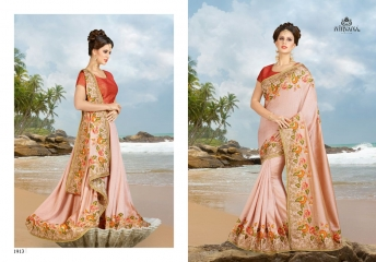 NIRVANA FASHION 1900 SERIES DESIGNER SAREES WHOLESALE RATE AT SURAT (13)