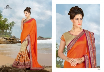 NIRVANA FASHION 1900 SERIES DESIGNER SAREES WHOLESALE RATE AT SURAT (14)