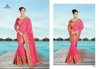 NIRVANA FASHION 1900 SERIES DESIGNER SAREES WHOLESALE RATE AT SURAT (18)