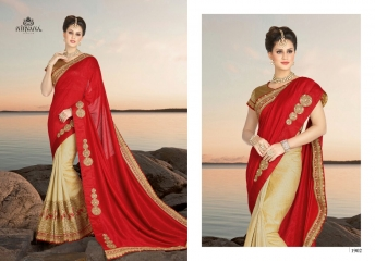 NIRVANA FASHION 1900 SERIES DESIGNER SAREES WHOLESALE RATE AT SURAT (2)