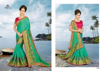 NIRVANA FASHION 1900 SERIES DESIGNER SAREES WHOLESALE RATE AT SURAT (3)