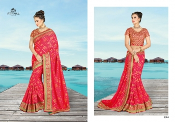 NIRVANA FASHION 1900 SERIES DESIGNER SAREES WHOLESALE RATE AT SURAT (4)
