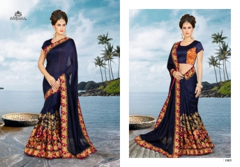 NIRVANA FASHION 1900 SERIES DESIGNER SAREES WHOLESALE RATE AT SURAT (5)