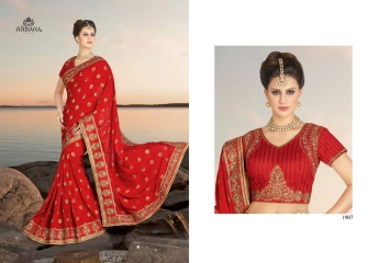 NIRVANA FASHION 1900 SERIES DESIGNER SAREES WHOLESALE RATE AT SURAT (7)