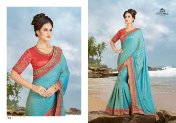 NIRVANA FASHION 1900 SERIES DESIGNER SAREES WHOLESALE RATE AT SURAT (8)
