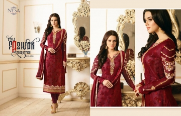 NYSA LIFESTYLE VOL 8 CATALOG WHOLESALE PARTY WEAR GEORGETTE EMBROIDERED SUITS SUPPLIER DEALER BEST RATE BY GOSIYA (3)