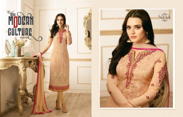 NYSA LIFESTYLE VOL 8 CATALOG WHOLESALE PARTY WEAR GEORGETTE EMBROIDERED SUITS SUPPLIER DEALER BEST RATE BY GOSIYA E (1)