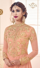 NYSA ZARAH COLLECTION VOL 6 GEORGETTE DESIGNER SUITS WHOLESALE SURAT ONLINE BEST RATE BY GOSIYA EXPORTS INDIA )