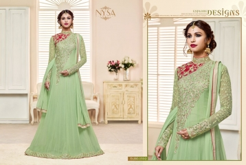 NYSA ZARAH COLLECTION VOL 6 GEORGETTE DESIGNER SUITS WHOLESALE SURAT ONLINE BEST RATE BY GOSIYA EXPORTS INDIA (3)