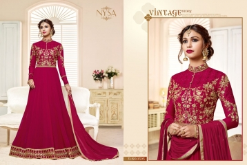NYSA ZARAH COLLECTION VOL 6 GEORGETTE DESIGNER SUITS WHOLESALE SURAT ONLINE BEST RATE BY GOSIYA EXPORTS INDIA (5)