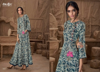 OM TEX SAPPHIRE LAWN COTTON LONG KURTI WHOLESALE BEST RATE BY GOSIYA EXPORTS SURAT ONLINE (3)