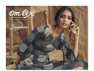 OM TEX SAPPHIRE LAWN COTTON LONG KURTI WHOLESALE BEST RATE BY GOSIYA EXPORTS SURAT ONLINE