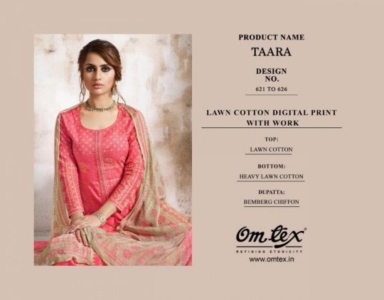 OMTEX FASHION TAARA LAWN FABRIC  (10)
