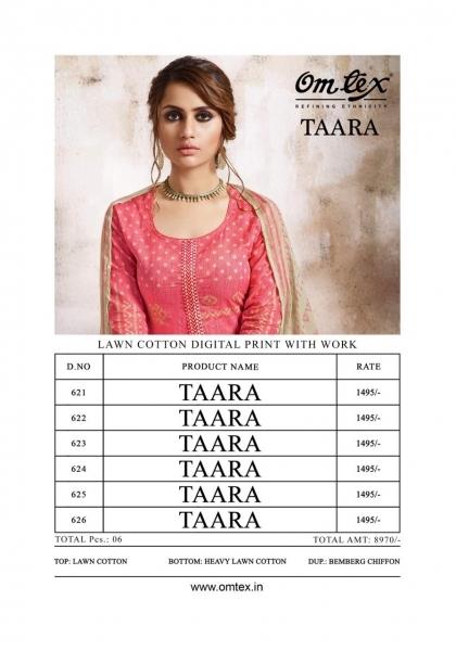 OMTEX FASHION TAARA LAWN FABRIC  (8)