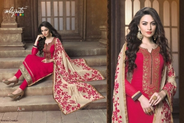 ONLY SUITS A-2 GEORGETTE WORK LONG SALWAR KAMEEZ CATALOGUE WHOLESALE BEST RATE (1)