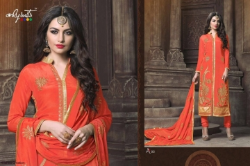 ONLY SUITS A-2 GEORGETTE WORK LONG SALWAR KAMEEZ CATALOGUE WHOLESALE BEST RATE (2)