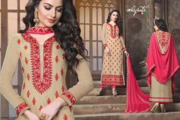 ONLY SUITS A-2 GEORGETTE WORK LONG SALWAR KAMEEZ CATALOGUE WHOLESALE BEST RATE (4)