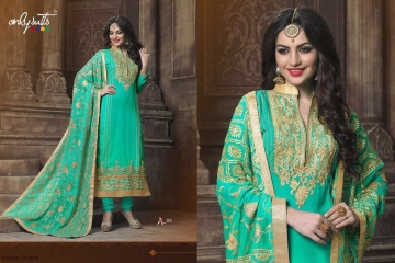 ONLY SUITS A-2 GEORGETTE WORK LONG SALWAR KAMEEZ CATALOGUE WHOLESALE BEST RATE (5)