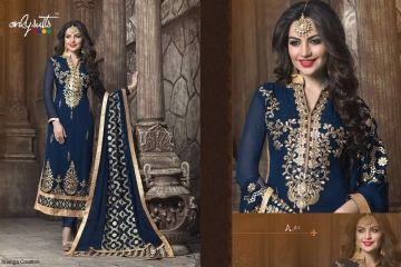 ONLY SUITS A-2 GEORGETTE WORK LONG SALWAR KAMEEZ CATALOGUE WHOLESALE BEST RATE (7)