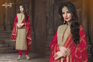 ONLY SUITS A-2 GEORGETTE WORK LONG SALWAR KAMEEZ CATALOGUE WHOLESALE BEST RATE (9)