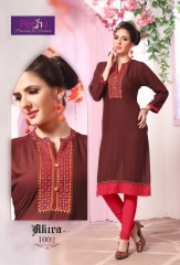 PEEHU AKIRA VOL 3 REYON WORK KURTI WHOLESALER BEST RATE BY GOSIYA EXPORTS SURAT ONLINE (2)
