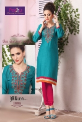 PEEHU AKIRA VOL 3 REYON WORK KURTI WHOLESALER BEST RATE BY GOSIYA EXPORTS SURAT ONLINE (7)