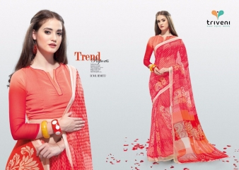 PEEHU VOL 6 BY TRIVENI CASUAL WEAR PRINT SAREES WHOLESALE COLLECTION BEST RATE BY GOSIYA EXPORTS SURAT (3)