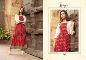 PEHANAVA VOL 3 BY PSYNA COTTON CAMBRIC CASUAL WEAR LONG KURTI COLLECTION WHOLESALE BEST RATE BY GOSIYA EXPORTS SURAT (21)