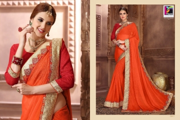 PIKASHO BY IMPRESSION VOL 4 CATALOGUE DESIGNER EMBROIDERED SAREES WHOLESALE BEST RATE BY GOSIYA EXPORTS (2)