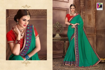 PIKASHO BY IMPRESSION VOL 4 CATALOGUE DESIGNER EMBROIDERED SAREES WHOLESALE BEST RATE BY GOSIYA EXPORTS (6)