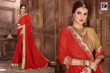 PIKASHO BY IMPRESSION VOL 4 CATALOGUE DESIGNER EMBROIDERED SAREES WHOLESALE BEST RATE BY GOSIYA EXPORTS (8)