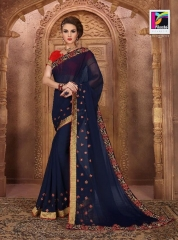 PIKASHO BY IMPRESSION VOL 4 CATALOGUE DESIGNER EMBROIDERED SAREES WHOLESALE BEST RATE BY GOSIYA EXPORTS