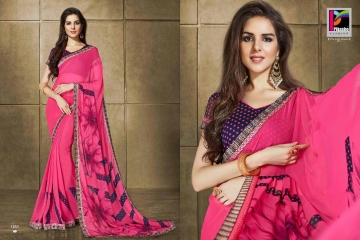 PIKASHO KRITIKA VOLUME 13 GEORGETTE PRINT SAREES WHOLESALE BEST RATE BY GOSIYA EXPORTS SURAT (11)
