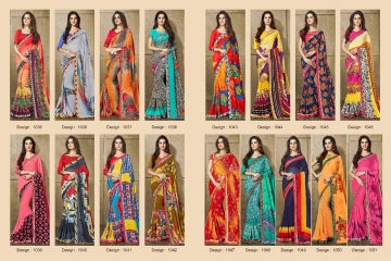 PIKASHO KRITIKA VOLUME 13 GEORGETTE PRINT SAREES WHOLESALE BEST RATE BY GOSIYA EXPORTS SURAT (12)