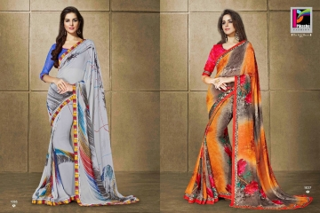 PIKASHO KRITIKA VOLUME 13 GEORGETTE PRINT SAREES WHOLESALE BEST RATE BY GOSIYA EXPORTS SURAT (2)