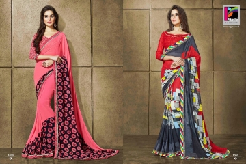 PIKASHO KRITIKA VOLUME 13 GEORGETTE PRINT SAREES WHOLESALE BEST RATE BY GOSIYA EXPORTS SURAT (4)
