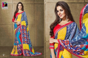 PIKASHO KRITIKA VOLUME 13 GEORGETTE PRINT SAREES WHOLESALE BEST RATE BY GOSIYA EXPORTS SURAT (5)