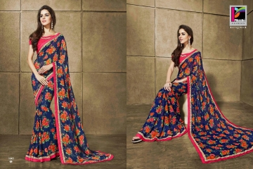 PIKASHO KRITIKA VOLUME 13 GEORGETTE PRINT SAREES WHOLESALE BEST RATE BY GOSIYA EXPORTS SURAT (6)