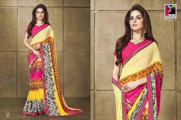 PIKASHO KRITIKA VOLUME 13 GEORGETTE PRINT SAREES WHOLESALE BEST RATE BY GOSIYA EXPORTS SURAT (7)