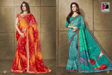 PIKASHO KRITIKA VOLUME 13 GEORGETTE PRINT SAREES WHOLESALE BEST RATE BY GOSIYA EXPORTS SURAT (8)
