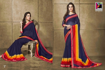 PIKASHO KRITIKA VOLUME 13 GEORGETTE PRINT SAREES WHOLESALE BEST RATE BY GOSIYA EXPORTS SURAT (9)