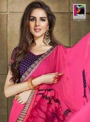 PIKASHO KRITIKA VOLUME 13 GEORGETTE PRINT SAREES WHOLESALE BEST RATE BY GOSIYA EXPORTS SURAT